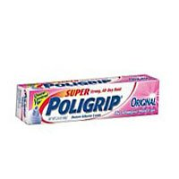 Super Poligrip Denture Adhesive Cream, 3 Pack, 0.75 Oz Each