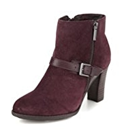 Footglove™ Leather Wide Fit Zipped & Buckle Boots