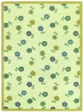 "Joy Carpets Kid Essentials Infants & Toddlers Oval Awesome Blossom Rug, Soft, 10'9"" x 13'2"""