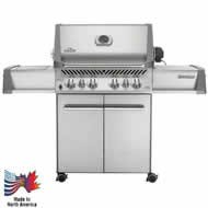Napoleon P500RSIBPSS Prestige Propane Grill with Rear and Side Infrared Burner Stainless Steel Doors and Lid
