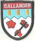 CALLANDER SCOTLAND CREST FLAG WORLD EMBROIDERED PATCH BADGE