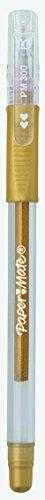 Paper Mate 300 - Juego de bolígrafos de tinta de gel (36 unidades), color dorado y plateado