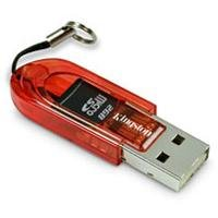 Kingston USB 2.0 microSD Flash Memory Card Reader FCR-MRR (Red)