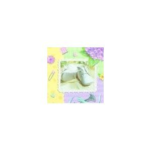 Pitter Patter Baby Shower Napkins - Baby Boy Or Girl Baby Shower Beverage Napkins - 16 Count front-1037983