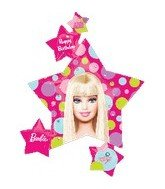 Barbie All Dolled Up Super Shape Metallic Balloon, 25 x 36 Inches