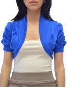 Azkara Women's Shrug Short Sleeve Cropped Bolero Cardigan Junior and Plus Size