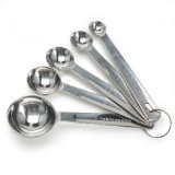 Danesco 1304856 Stainless Steel Measuring Spoons, Set Of 5