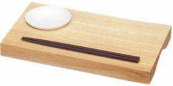 国産天然木 ミニすしバー(箸・皿付) 28×16cm 57006