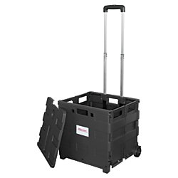 Amazon Com Office Depot Mobile Folding Cart With Lid