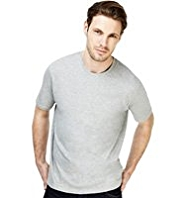 2in Longer Pure Cotton Crew Neck T-Shirt with StayNEW™