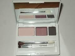Clinique Colour Eye Shadow Trio - Slate, Beach Plum, Pink Chocolate