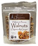 Organic Walnuts, Halves & Pieces 6 oz (170 grams) Pkg
