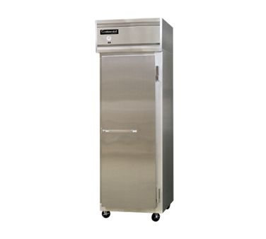 "Continental Refrigerator 1F-Lt-Ss 26"" Solid-Door Low-Temp Reach-In Freezer"