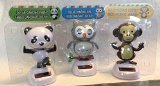 3 Pack of Solar Dancing Characters - Owl, Panda & Monkey - 1