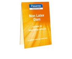 Pasante Healthcare 3 NON LATEX DAMS - safe, hygenic oral sex for use by men or women