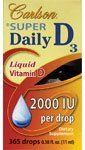 Super Daily D3 2000 IU Liquid - 11 ml - Dropper