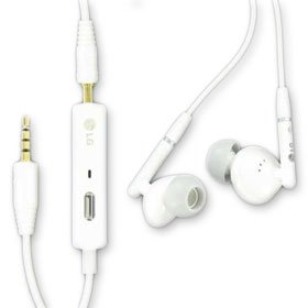 Oem Lg Hands-Free Soft Gel Stereo Earbud 3.5Mm (Sgey0005582) Color-White