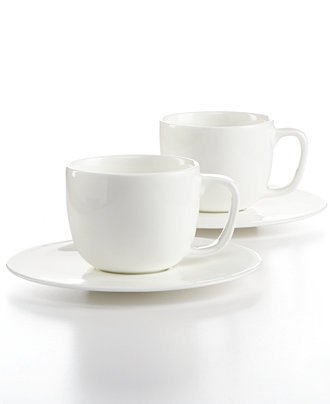Hotel Collection Dinnerware, Set of 2 Bone China Espresso Cups (Hotel Dinnerware compare prices)