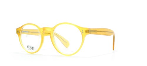 gianfranco-ferre-406-n-z19-yellow-round-certified-vintage-eyeglasses-frame-for-mens-and-womens