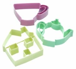 Lets Make Sweetly Does It Set of Three Tea Set Cookie Cutters