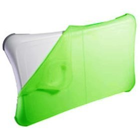 Green Silicon Skin Cover Sleeve Anti-slip Pad for Nintendo WII FIT Balance Board (Bulk Packaging)