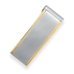 Stainless Steel and 14 Karat Gold Plated Money Clip