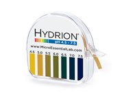Micro Essential Lab 334 Hydrion Short Range pH Test Paper Dispenser, 4.5 - 7.5 pH, Single Roll