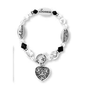 Achieve, Success, Believe Crystal Expressively Yours Bracelet