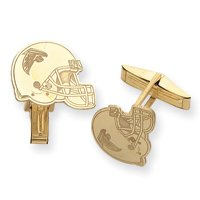 14K Atlanta Falcons Logo Helmet Cuff Links - NF99