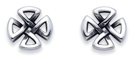 Stainless Steel Celtic Cross Stud Earrings