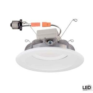 Commercial Electric 6 In. White Recessed LED Trim
