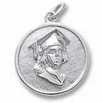 Rembrandt Charms Graduation Charm - Sterling Silver