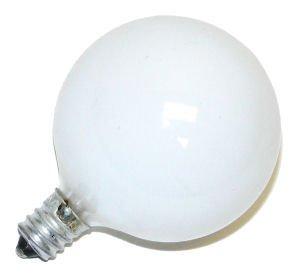 Bulbrite 15G16Wh3 15W G16 Globe 130V Candelabra Light Bulb, White