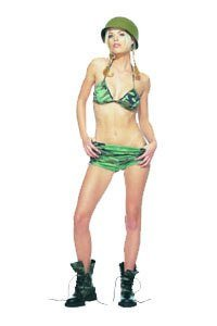 Camouflage Bikini Top W Shorts Costume Accessory