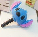Dust Plug- Earphone Jack Accessories Disney Character 3D Stitch / Cell Charms / Ear Jack for Iphone 4 4s / Ipad / Ipod Touch / Other 3.5mm Ear Jack--------FREE SHIPPING From NY----------
