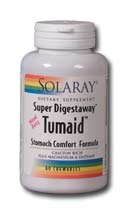 Solaray Super Digestaway Tumaid Stomach Comfort Formula Mixed Berry -- 60 Chewables
