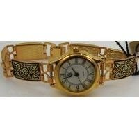 Damascene Gold Geometric Rectangle Link Watch by Midas of Toledo Spain style 3501