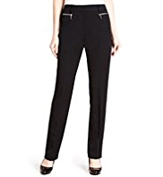 M&S Collection Flat Front Zip Pocket Slim Leg Trousers