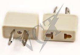 Vct Vp6W - Plug Adapter Converts 2 Pin Usa & Europe Plugs To Australia / New Zealand / China Plug