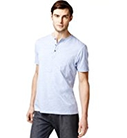 Henley Neck T-Shirt with StayNEW™