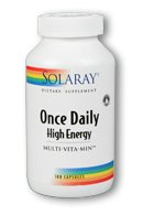 Solaray Once Daily High Energy Multi-Vita-Min -- 180 Capsules