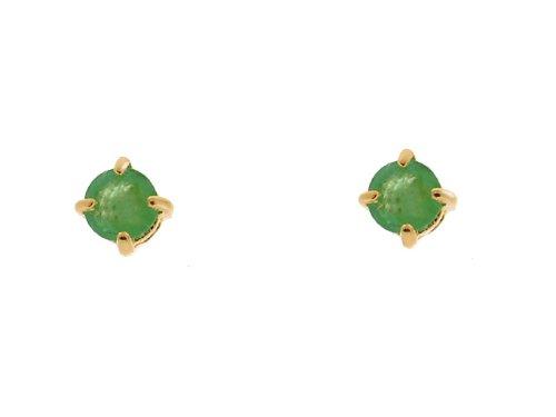 9ct Yellow Gold Emerald Earrings