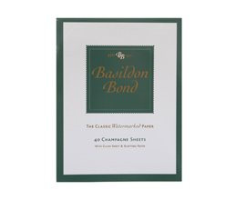 Basildon Bond Writing Pad 175x135mm 90gsm 80 Pages 40 Sheets - Color: Champagne