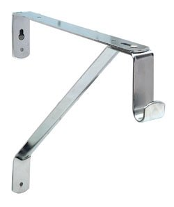 D.H.S. Oval Closet Rod Shelf Bracket - Polished Chrome (Brackets Rod Shelf compare prices)