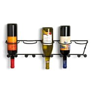 Horizontal Wall Mount Wine Rack 5-bottle- Black