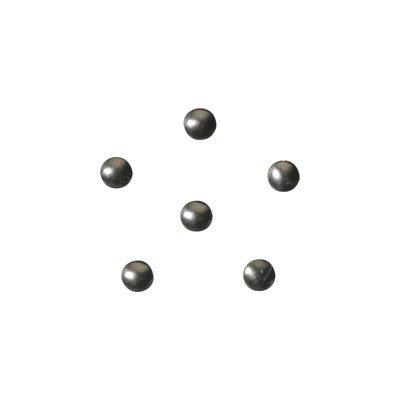 shu shu ラブチャーム カラースタッズ ラウンド 1.5mm チャコールグレイ 50P
