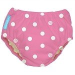 Charlie Banana Best Extraordinary Reusable Swim Diaper (Small, Big Polka Dots on Baby Pink)