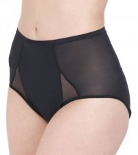 Body Wrap Moderate Control Shapewear Hi-Cut Brief Panty (MEDIUM Black)