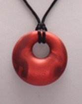 """The Art of CureTM Organic Teething Necklace """"RED SWIRL"""", BPA Free - 1"