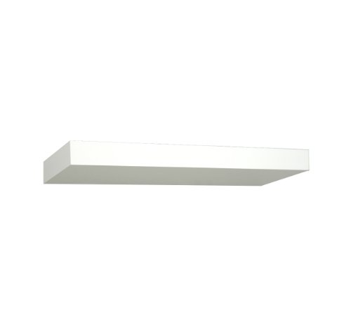 Creative Connectors 6990619 Invisible Mount Silhouette Wooden Shelving, 14-Inch, White